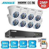 SANNCE 4 800TVL Indoor Outdoor IR Home Surveillance Camera System 4 CH 960H HDMI DVR
