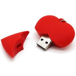 Image 4 - Văn Bản Tôi Ổ Đĩa U Bút 4GB 8GB 16GB 32GB Hoạt Hình Trái Tim Đỏ Nhất Tặng Usb đèn Led