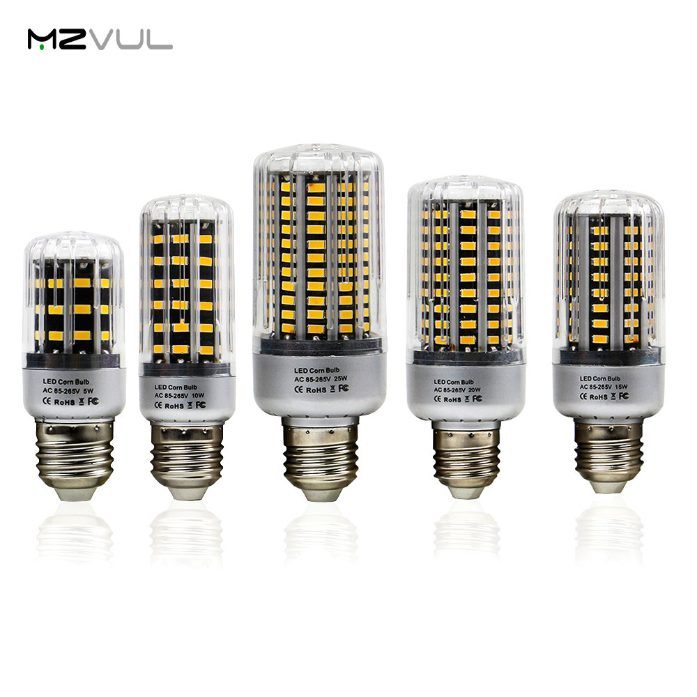 No Flicker SMD 5736 LED Corn Light 5W 10W 15W 20W 25W E27 LED Lamp Warm White/White Constant Current For Home Lighting LED Bulb