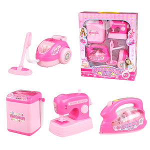 4pcs Pink Household Pretend Play Toys mini washing machine toy Educational Appliances For Girl Toy Gift