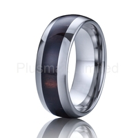 superb value and service red wood ring titanium jewelry tungsten ring for men