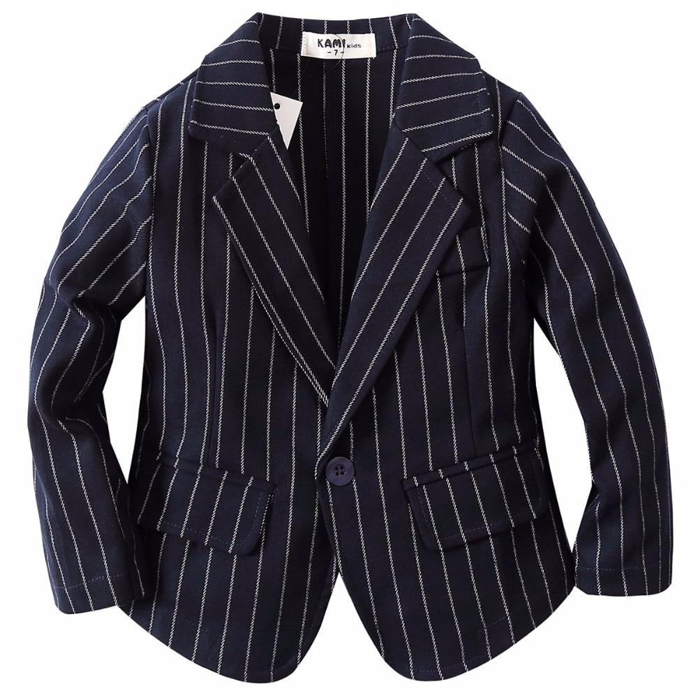 911f711ed892 new arrival woven cotton 100% toddler boy dark blue stripe blazer BJ1709