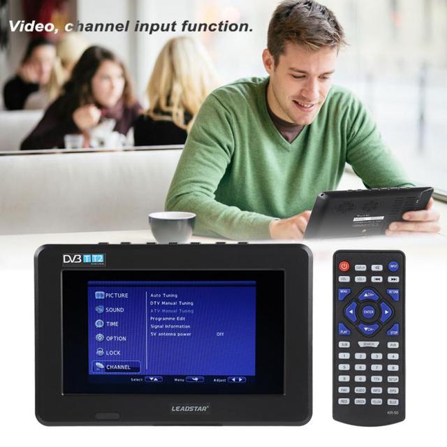 LEADSTAR D7 Uống 7 inch HD 1080 p Video TFT Màn Hình LED Mini TV Xe Kỹ Thuật Số TV DVB-T DVB-T2 ATSC ISDB Truyền Hình PVR ghi âm