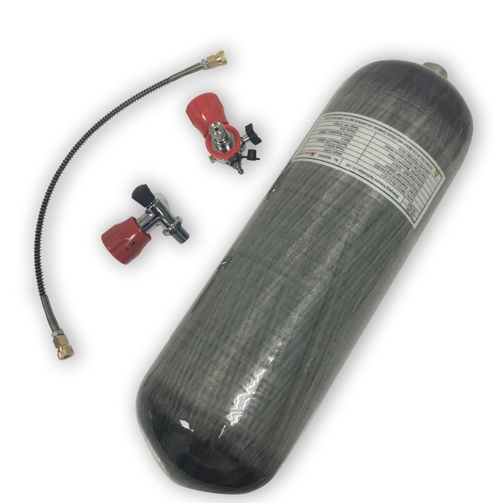 AC109101 Scuba Tank Pcp Carbon Fiber Tank Compressed Air Gun Bottles Pcp Paintball Tank Diving Cylinder Air Rifle Acecare 2019