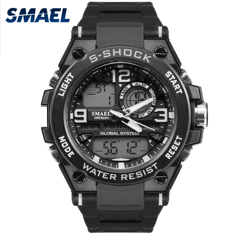 New Fashion Men Watches SMAEL Brand White Color Outdoor Sports Time Clock Gift for Men 50M Waterproof Dive Relogio Masculino1603 marsnaska brand new white