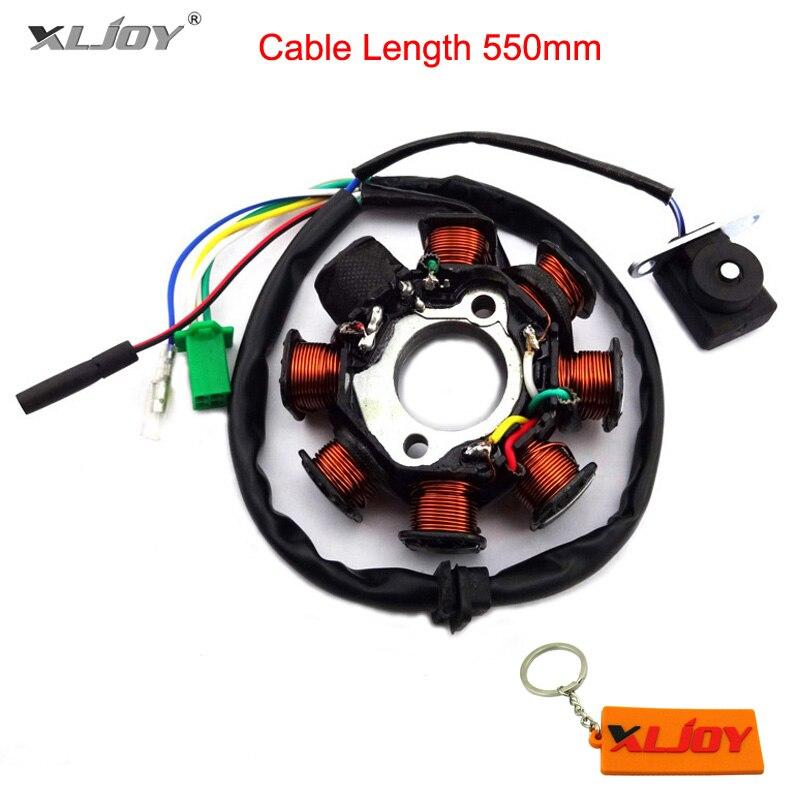 XLJOY 125 Uždegimo statoriaus magnetas 8 ašies ritės GY6 125cc 150cc mopedo motorolerio ATV