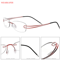 a8f32286b Titanium Rimless Glasses Frame Women Ultralight Prescription Myopia Optical  Eyeglasses Female Ladies Frameless Screwless Eyewear. Óculos ...
