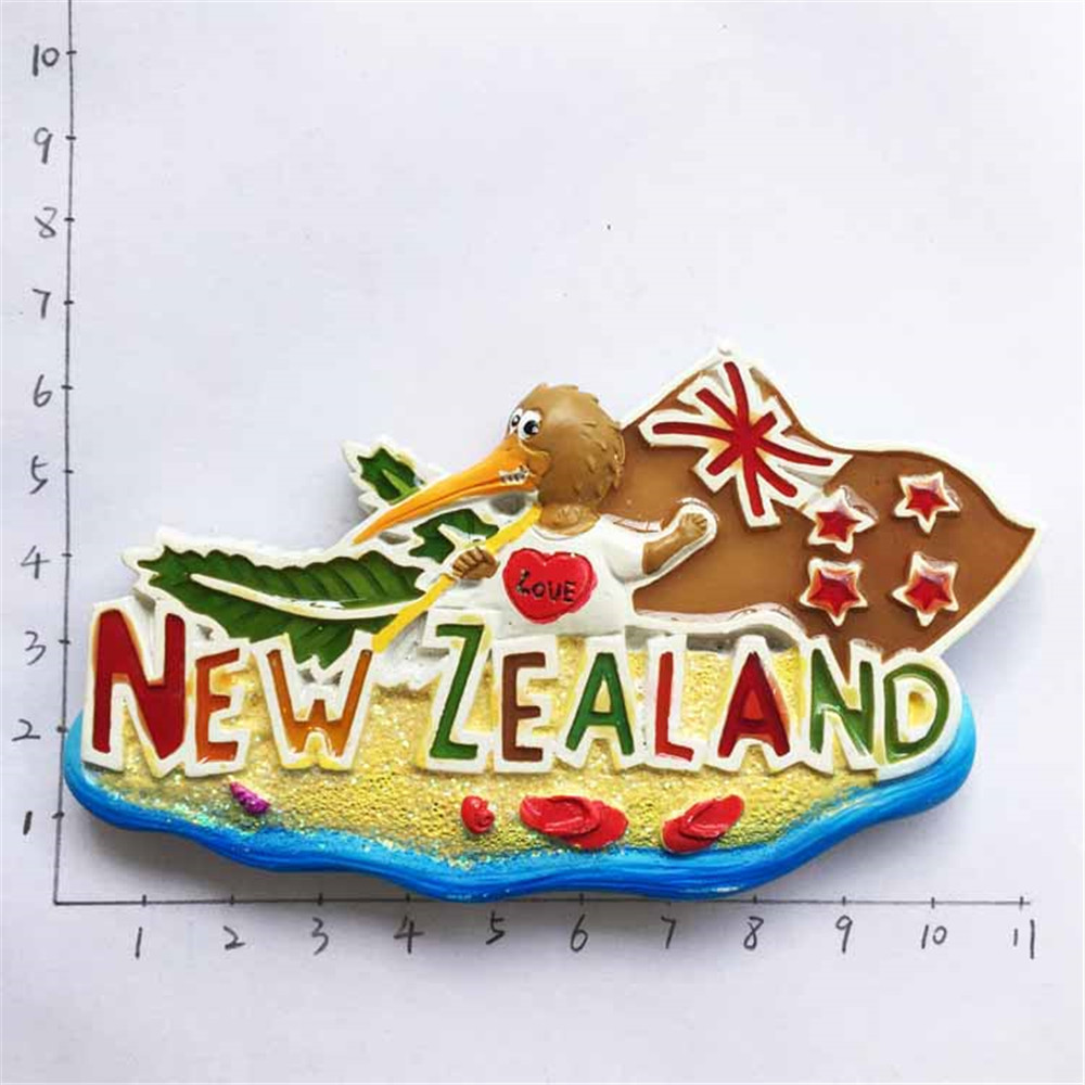 <font><b>New</b></font> Hot <font><b>New</b></font> <font><b>Zealand</b></font> Oceania Travel <font><b>Souvenirs</b></font> <font><b>Fridge</b></font> <font><b>Magnets</b></font> Resin Handmade 3D Kiwi Bird Magnetic Refrigerator Sticker image