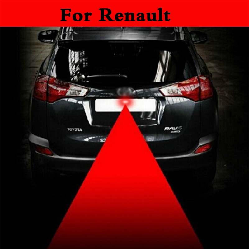 12V Anti Collision Car Laser Tail Red Auto Brake Parking Lamp For Renault Captur Clio RS Clio V6 Duster Fluence Kadjar Koleos microfiber leather steering wheel cover car styling for renault scenic fluence koleos talisman captur kadjar