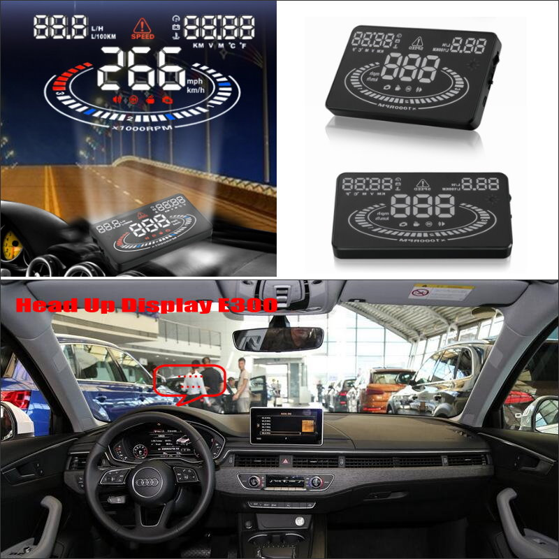 ФОТО For Audi TT A1 A3 A4 A5 A7 Q3 Q5 Q7 RS TTS - Car HUD Head Up Display  - Safe Driving Screen Projector Refkecting Windshield