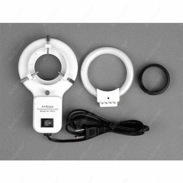 Microscope à Zoom articulé-AmScope fournit 3.5X-90X Microscope à Zoom articulé w lumière fluorescente + appareil photo numérique 1.3MP