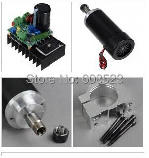 400W CNC Spindle Motor Kits PWM Speed Controller With Mount Bracket 10 50v 100a 5000w reversible dc motor speed controller pwm control soft start high quality