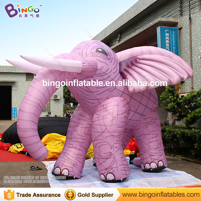 Custom simulated models giant inflatable pink elephant for sale 3m long free shipping movie figure character