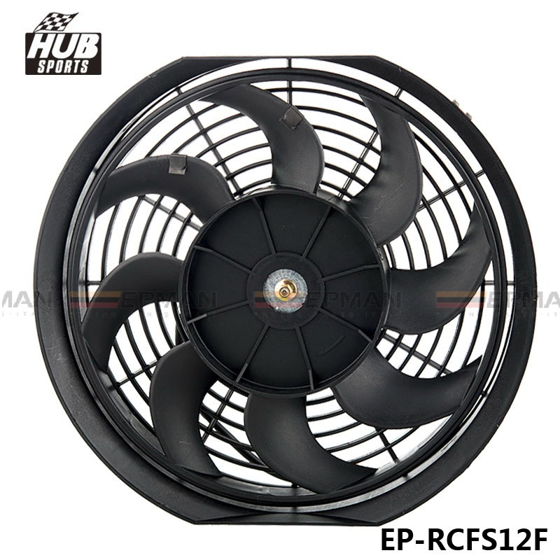 New 12inch Electric Universal Cooling Radiator Fan Curved S Blade