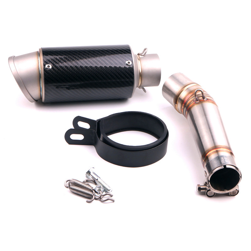 FOR HONDA NC700 NC750 NC750X 2012-2017 Motorcycle Exhaust Muffler Pipe Link Pipe Carbon Fiber Exhaust Slip on Escape