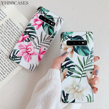 YHBBCASES For Samsung Galaxy S8 S9 S10 Plus Art Flowers Leaf Soft TPU Cases Note 8 9 Tropic Plant Shrub Phone Cover