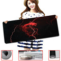 Red Msi Logo Design Wallpaper Gaming Mouse Pad Computer Notebook Rubber Mice Mat Stitched Edge Speed Up Mousepad