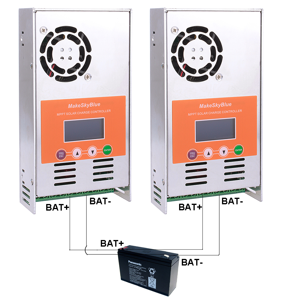 100A MPPT de Charge Solaire Contrôleur Régulateur pour 12 v 24 v 36 v 48VDC MakeSkyBlue