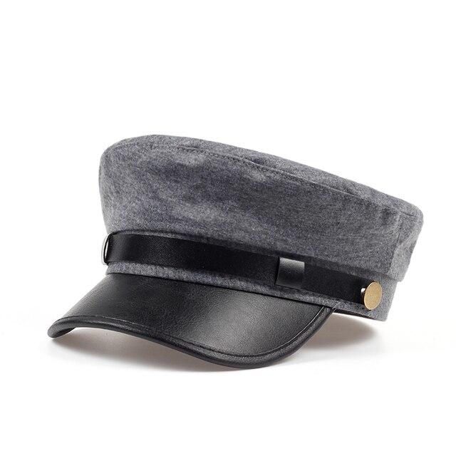 Nova Tampão Militar Chapéu Feminino Chapéu de Inverno Chapéus Para Mulheres  Dos Homens Das Senhoras Militar 1766237d821