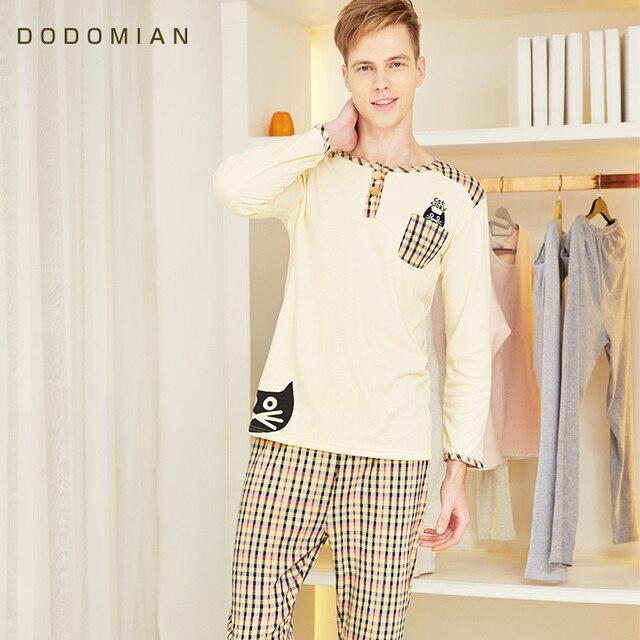 2 Шт. Мужчин Loungewear Мягкие Халат Набор Плед Сексуальные Пижамы Для Мужчин 100% Хлопок Нижняя Одежда Набор Pijama Masculino