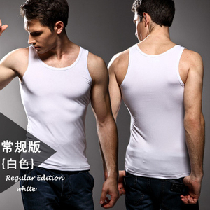 Image 4 - 3 יחידות באיכות גבוהה גברים של מודאלי מוצק צבע תחתונים הדוק בגדי אפוד לייקרה גמישות גבוהה רחב כתף גופיות