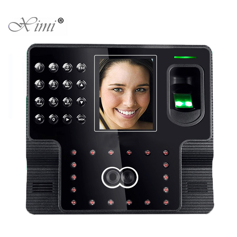 Biometric Face And Fingerprint Time Attendance System Employee Attendance Facial Time Recorder Iface102 Fingerprint Time Clock