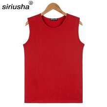 Quick Dry Oversized Sleeveless Shirt 45-105 Kg O Collar Wide Shoulder Vest Loose Cotton Soft Breathable Tank Basket Boll S107(China)