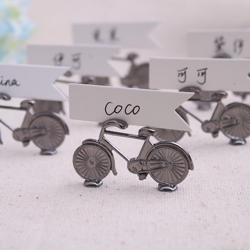 100pcs creative vintage bicycle bike table place card holder name vintage bicycle wedding place holder baby shower table card holders wedding centerpieces decoration mariage vintage table colourmoves Choice Image