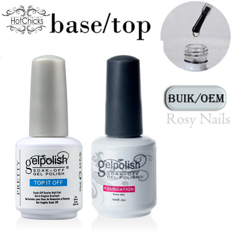 Hot Chicks Fashional Led Uv Lamp Base Coat No Wipe Gel Top