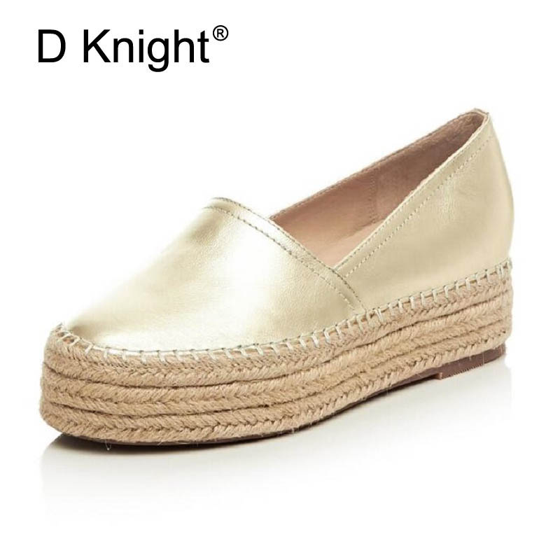 Women Casual Shoes Genuine Leather Flats Silver Gold Loafers Women's Slip on Female Creepes Fashion Flat Platform Shoes Woman morazora spring autumn genuine leather flat shoes woman round toe platform fashion casual slip on women flats gold