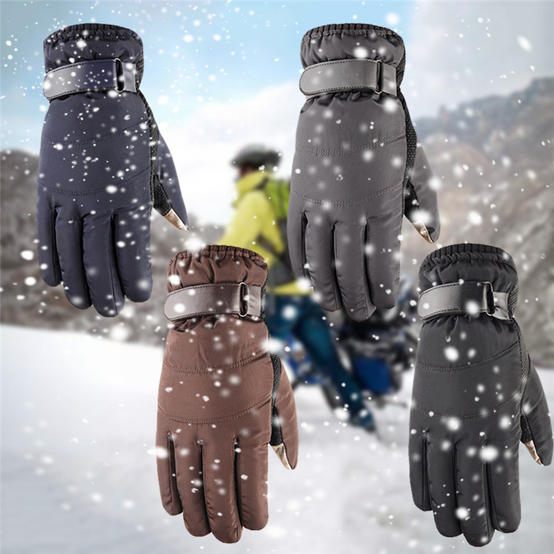 1 Pairs Of Riding Bike Cotton Gloves Windproof Cold-proof Warm Touch Screen Gloves Winter Outdoor Sports Skiing Snowboard Bike