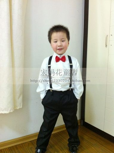 Child Costume Male Child Formal Dress Trousers Shirt Black Western
