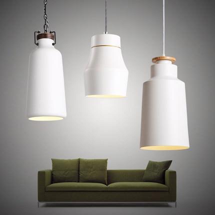 Moderno lampadari da cucina nero/bianco paralume in metallo ...