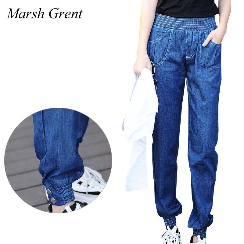 Women Capri Jeans Elastic Waist Promotion-Shop for Promotional ...