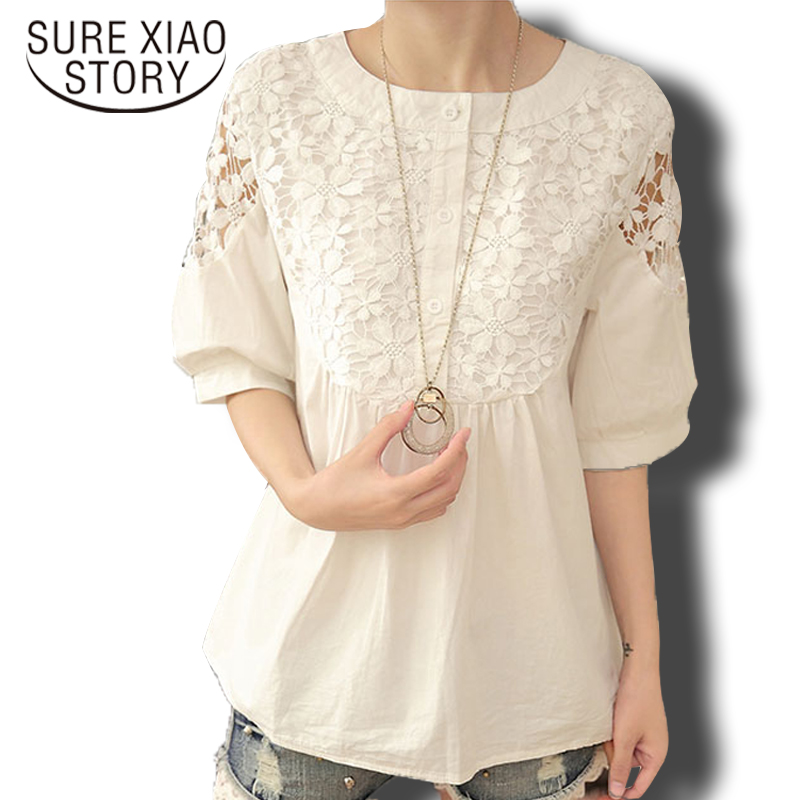 Women Elegant Loose Plus Size Shirt 2016 New Fashion Women -8222