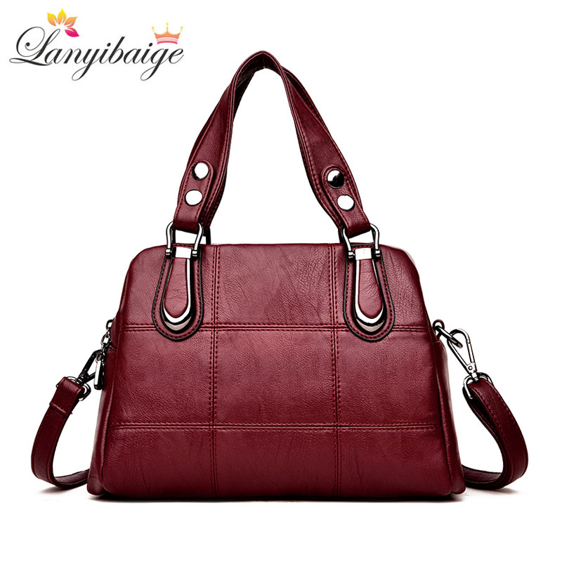 LANYIBAIGE High Quality Leather Women Handbag Brand Large Capacity Female Bag Lady Shoulder Messenger Bag Girl Casual Bag S