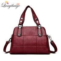 LANYIBAIGE High Quality Leather Women Handbag Brand Large Capacity Female Bag Lady Shoulder Messenger Bag Girl Casual Bag S