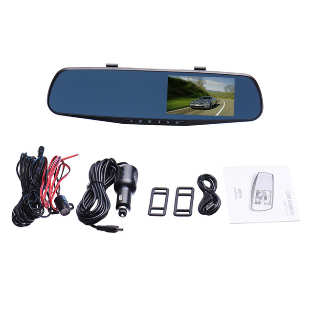 TFT LCD Parking Car Rear View Mirror Monitor 4.3'' Rearview Monitor for Backup Reverse Camera with G-sensor