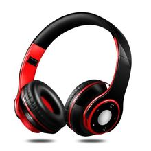 цена на Foldable Wireless Headphone HIFI Casque Audio Bluetooth Earphones Stereo Bass Music Headset With Mic Support SD TF Card FM Radio