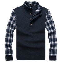 Free Shipping Men's Fashion Knitted Sweater Men Autumn And Winter Men's Sweater High Quality Casual Slim O Neck Pullover