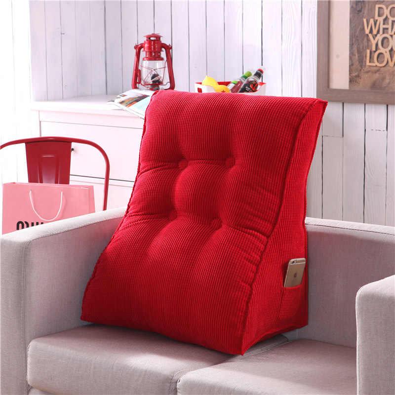 Brilliant Chair Pad Triangular Large Cushion Pillow Backrest Waist Back Sofa Bed Comfortable Backrest Couch Pillows Decorative Sofa 6Cu09 Frankydiablos Diy Chair Ideas Frankydiabloscom