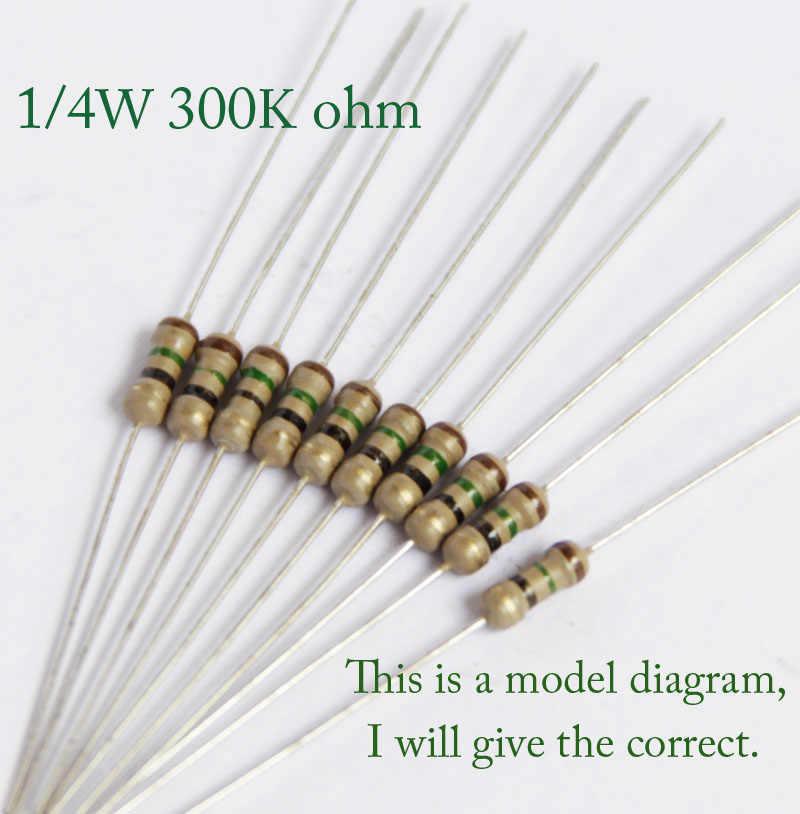 300k 1//4 watt 5/% Carbon Film Resistors 100pcs