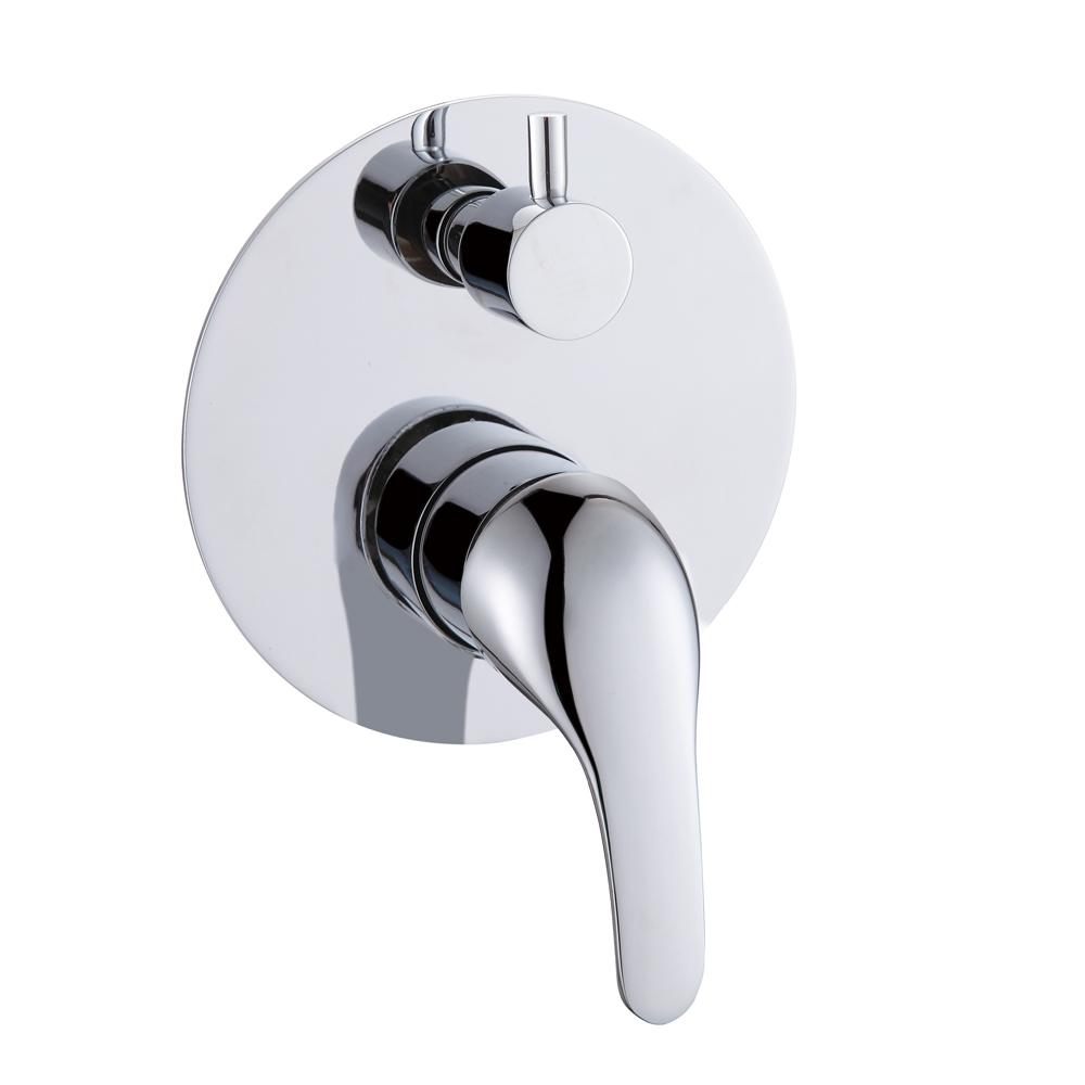 online get cheap concealed shower mixer diverter aliexpress com brass round bath mixer with diverter in fall concealed chrome finish dural function shower system tap faucet valve control part