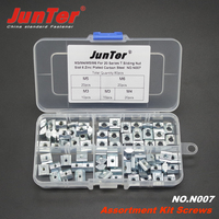 80pcs M3 M4 M5 M6 For 20 Series T Sliding Nut Block Slot 6 Zinc Plated