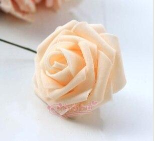 500 шт. X(6 см) один Пена розовыми цветами стволовых в 12 различных Цвета для выбора свадебные цветы.* по EMS - Цвет: champaigne