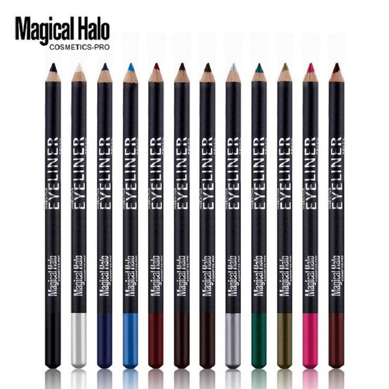12pcs/set Magical Halo 12 Colors Colorful Eyeliner Pencil Long Lasting Eye liner pen Waterproof Smudgeproof Eyes Pencil Makeup