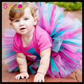 Free Shipping Colorful TuTu Skirt Infant Toldders Party Wear Puffy Mini Skirt Wholesale Prince Handmade Girls Stage Tutu Skirt