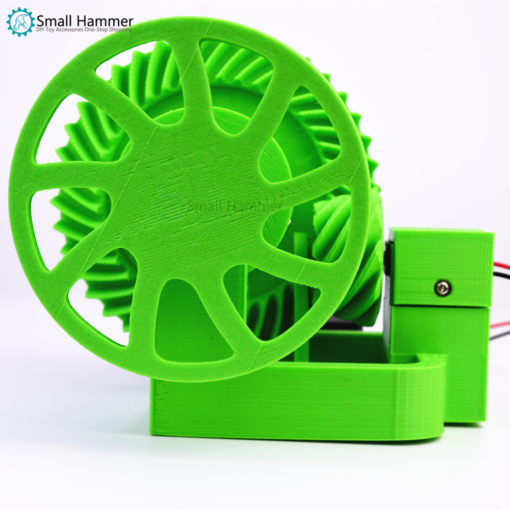 Car differential simple simulation model with battery box 3D technology printing creative DIY