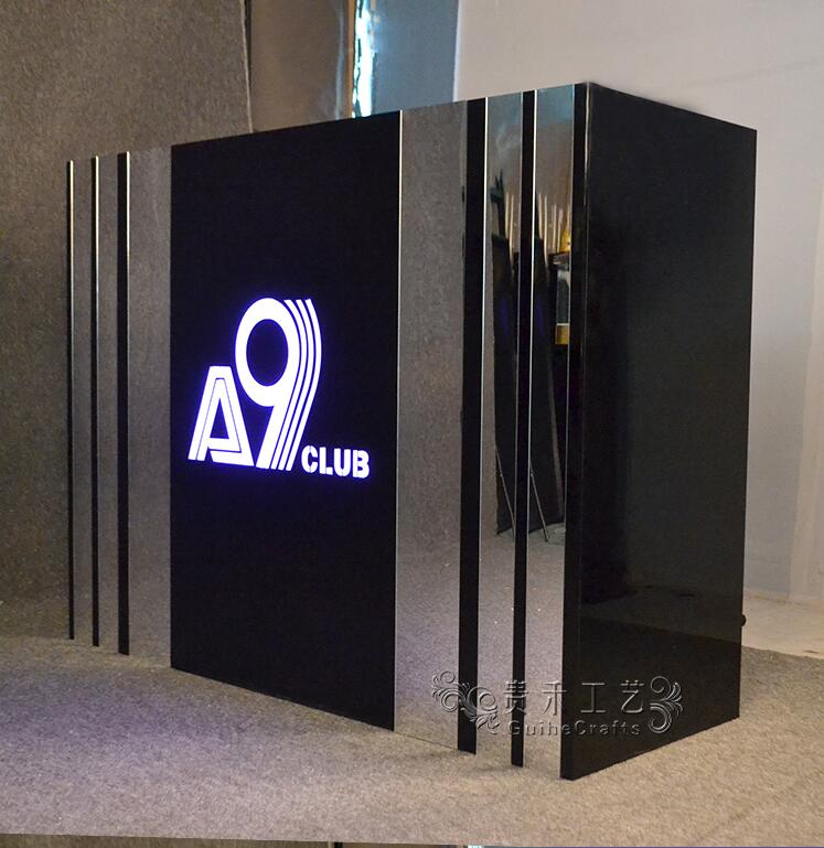Aurora Backlit Light Box Acrylic Podium For Reception Desk Self-contained 120*55*110CM