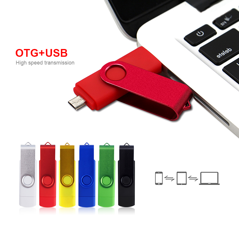 Wholesale 2 In 1 OTG USB Flash Drive 128GB 64GB 32GB 16GB 8GB Pen Drive Smart Phone External Storage Pen Drive Android USB Stick